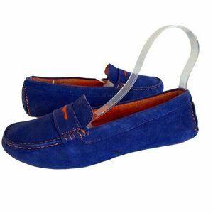 Johnston & Murphy Blue and Orange Loafers Women's